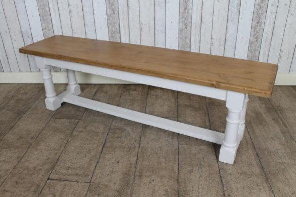 Bespoke Pine Bench with Turned or Tapered Legs