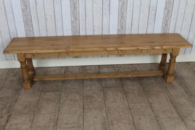 waxed pine bench
