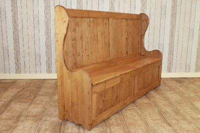 settle bench pew