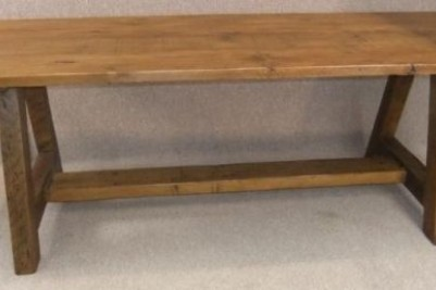 distressed pine dining table