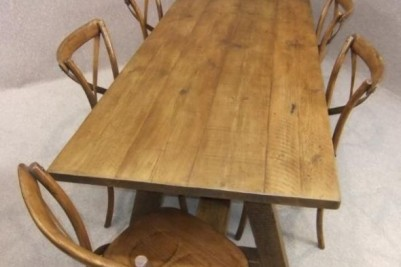 distressed pine table