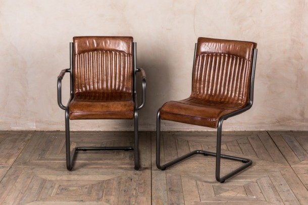 Newbury Leather Dining Room Chairs
