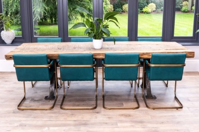 classic reclaimed oak dining table