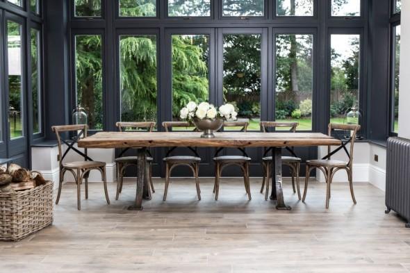 Old Barn Reclaimed Oak Dining Table