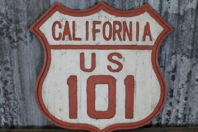Vintage route 101 sign