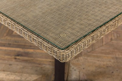 weaved outdoor table