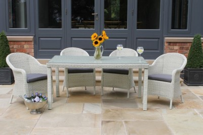 white outdoor furniture