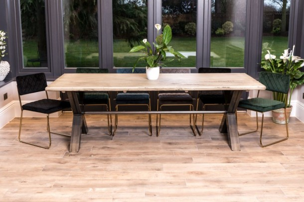 Oversized X Frame Dining Table