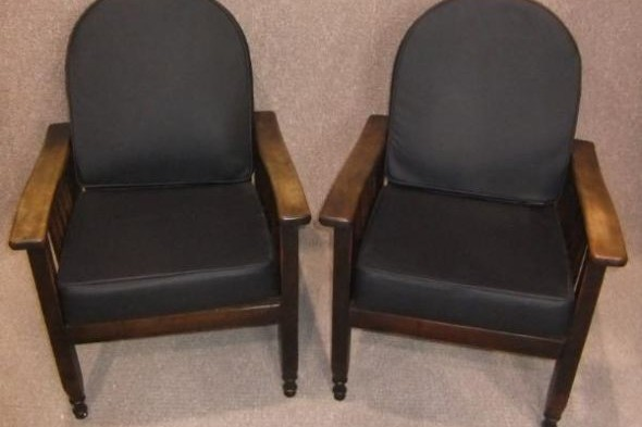 Pair of Reclining Armchairs 1930s