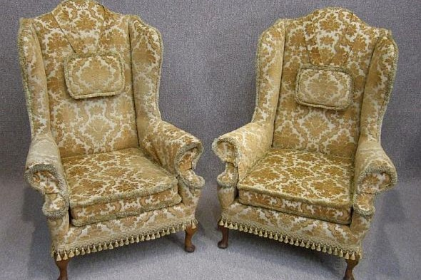 Pair of Early 20th Century George Ii Style Armchairs