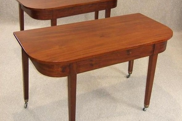 George Iii Mahogany D End Tables