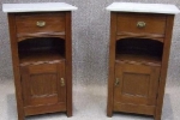 Pair of Mahogany Art Nouveau Bedside Cabinets