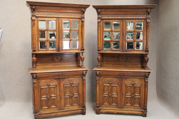 Pair of Victorian Bookcases in Oak
