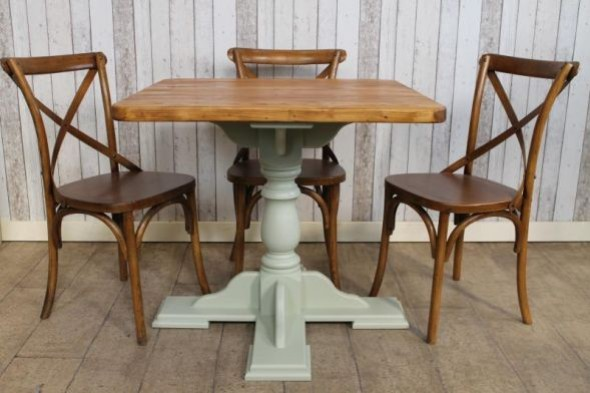 Handmade Pine Pedestal Cafe Table