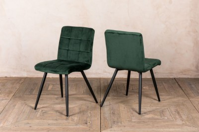 pine green dining chair