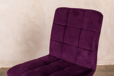 velvet mulberry chair