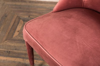 pink button back chair