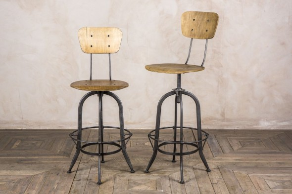 Premier Industrial Barstool with Back