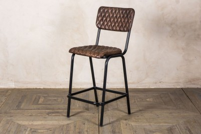 antique brown stool