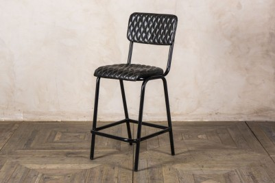 black leather stools