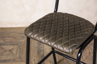 green quilted bar stools