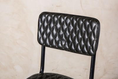 quilted black bar stools