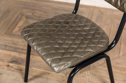 quilted leather chairs