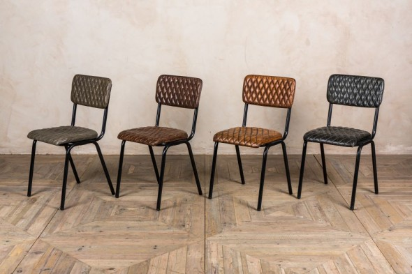 Princeton Quilted Leather Dining Chairs