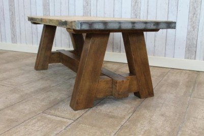 industrial vintage style coffee table