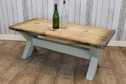rustic farmhouse coffee table painted base
