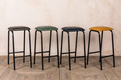 Richmond faux leather bar stools