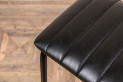 black faux leather seat