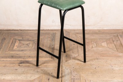 green faux leather bar stool frame