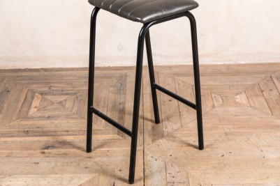 grey faux leather bar stool frame