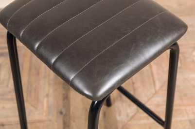 grey faux leather seat pad