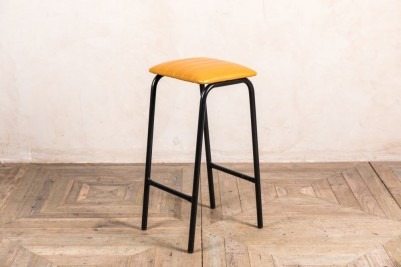 yellow faux leather bar stool