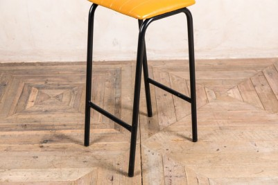 yellow faux leather bar stool frame