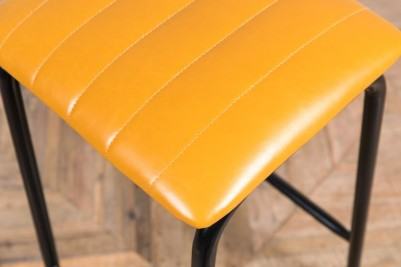 yellow faux leather seat pad
