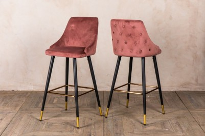 blush pink bar stools