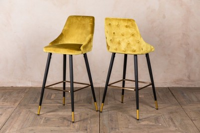 lemon yellow bar stools