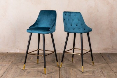 ocean teal bar stools