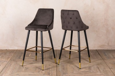satin grey bar stools
