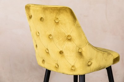 velvet lemon yellow stool