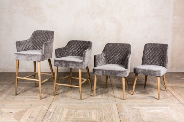 Rouen Chenille Dining Chairs
