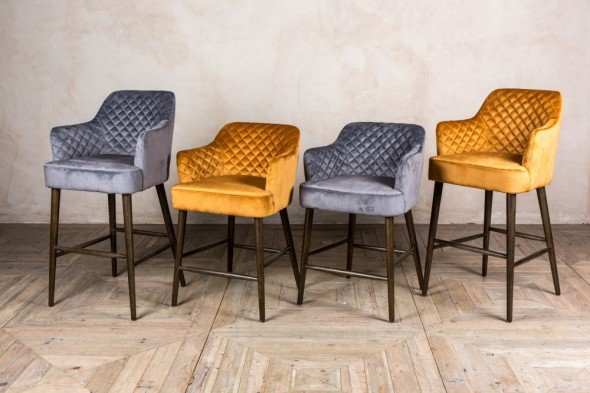 Rouen Quilted Bar Stools