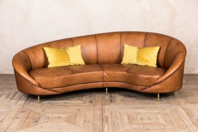 kidney shaped sofa