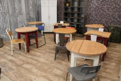 pine cafe tables