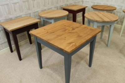 small pine cafe tables