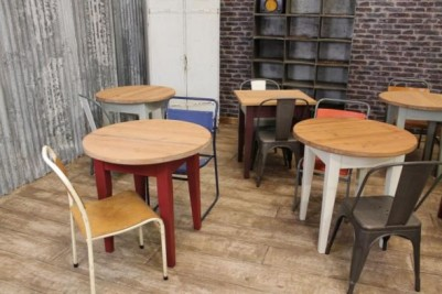 vintage style cafe tables