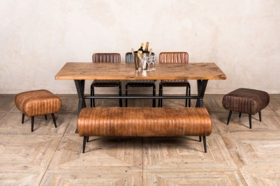 salcome leather benches